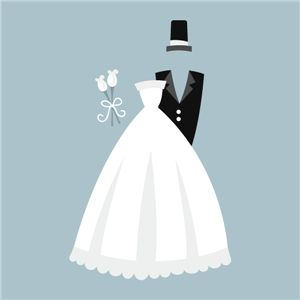 Silhouette Online Store - View Design #4080: bride and groom
