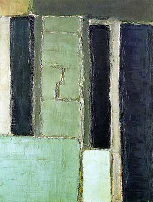 Composition en gris vert et bleu, 1950