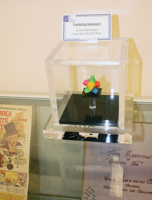 Everlasting Gobstopper in a museum. From the 1971 Movie