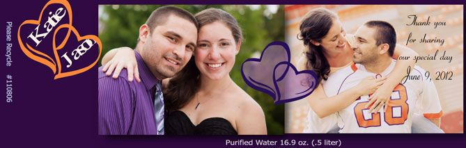 The www.yourpureimage.com can place your wedding photo on customized water bottle label and make your wedding unforgettable with low cost budget.