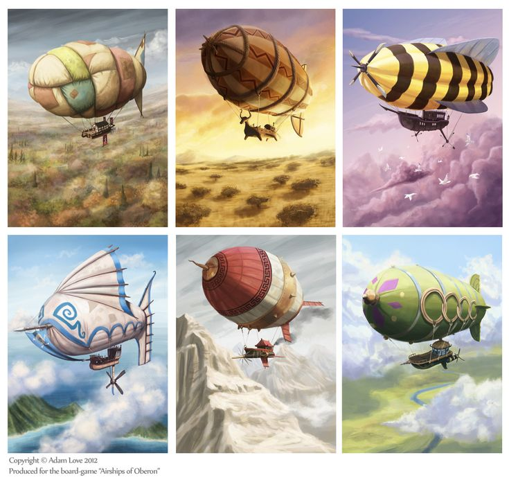 Some Airships of Oberon by SpikedMcGrath.deviantart.com