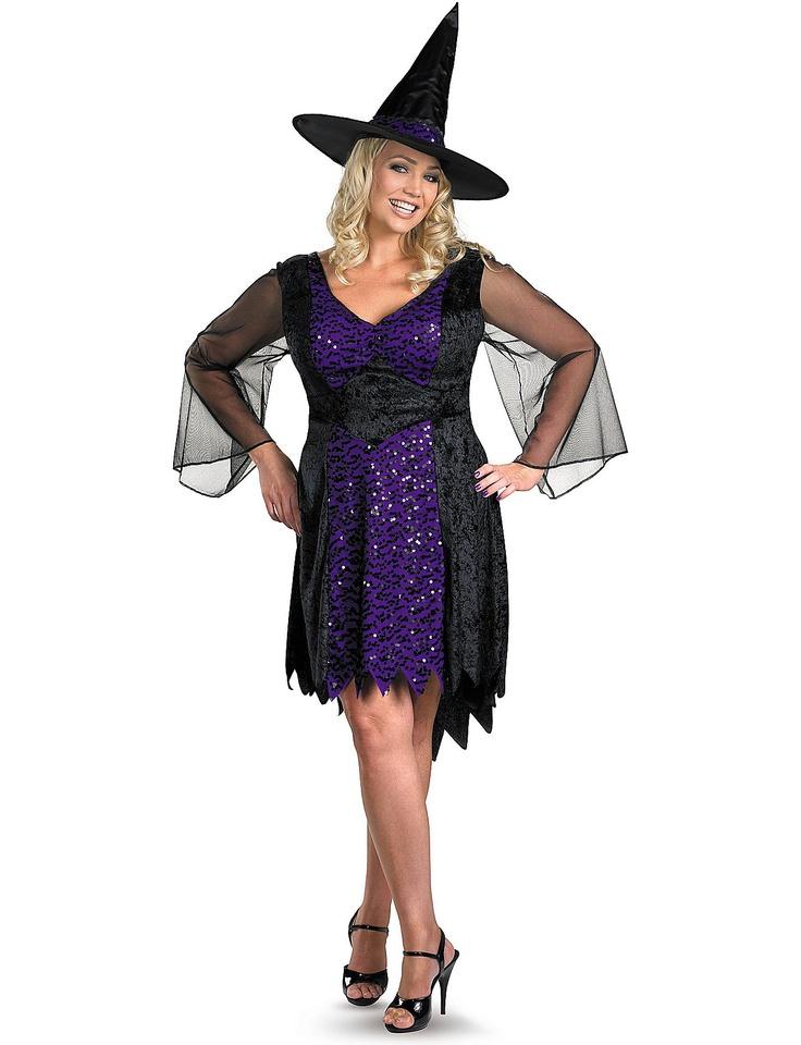 a cute sparkly witch charmed witch plus size costume sizes 18 24 - Size 18 Halloween Costumes