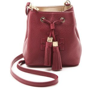 Tory Burch Thea Mini Bucket Cross Body Bag - Cabernet