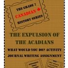 This assignment guides students into researching information about the expulsion of the Acadian people from Acadia between 1755-1760. Using their r...
