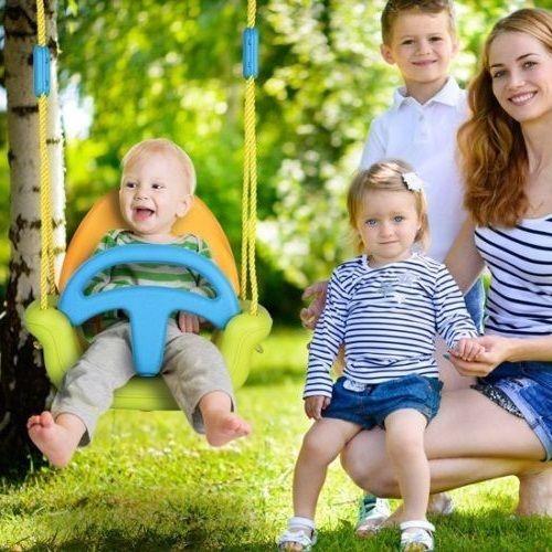 Kinder Schaukel 3 in 1 Baby Brett Sitz Garten Klein Spass Baum Hof Aussen Anlage