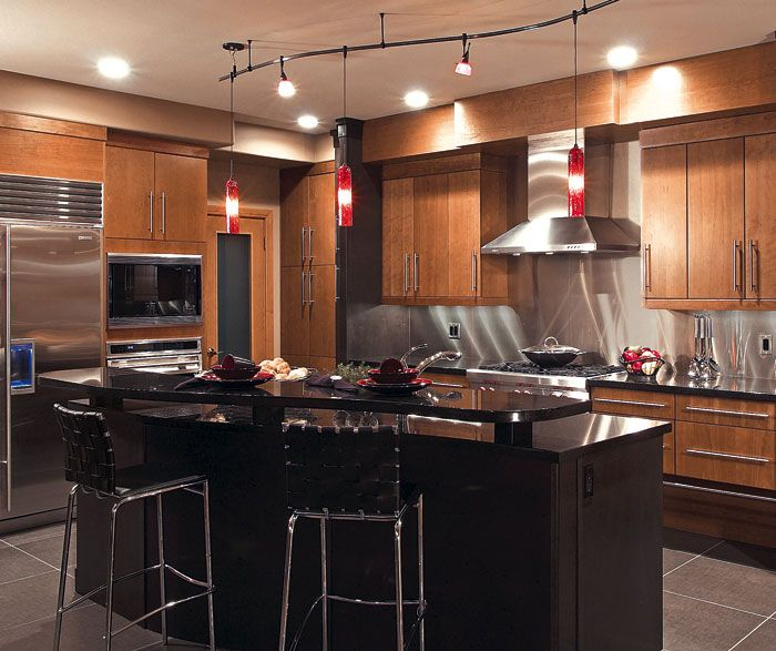 cherry finish kitchen cabinets door style summit 187 design style contemporary room 5371