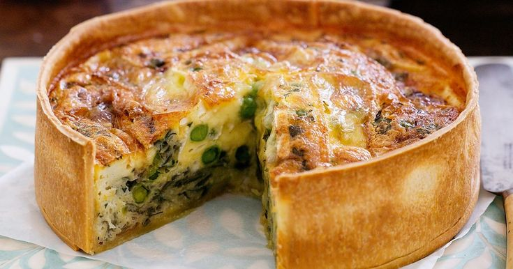 Keep frozen peas in the freezer for a variety of meals, including this delicious Pea and brie quiche.