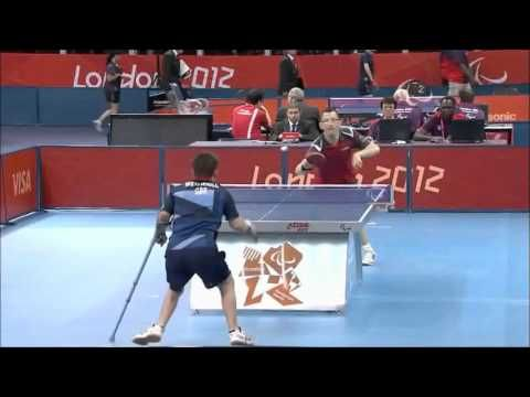 David Wetherill with a fantastic Table Tennis shot at the London 2012 Paralympic Games for GB (with replay)