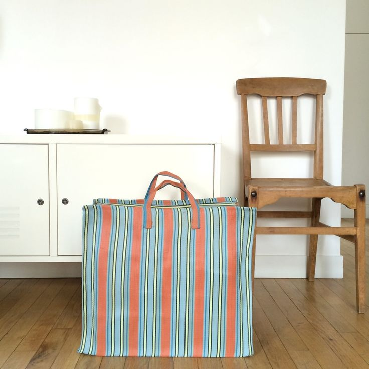 Image of Striped shopping bag - L