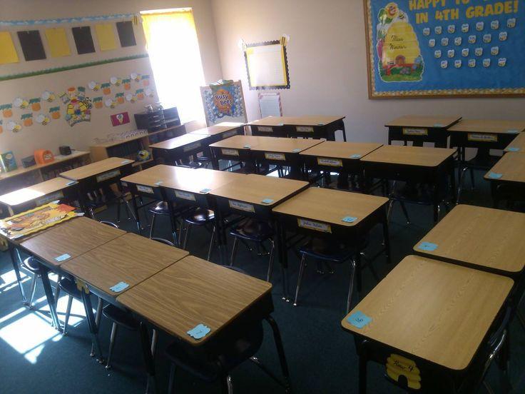 Desk Arrangement In Bumble Bee Classroom