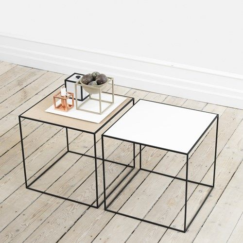 Modern And Contemporary Danish And Scandinavian Style Metal Side Tables :  By Lassen