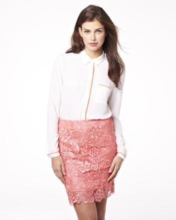 Light blouse with contrast piping Summer 2013 Collection