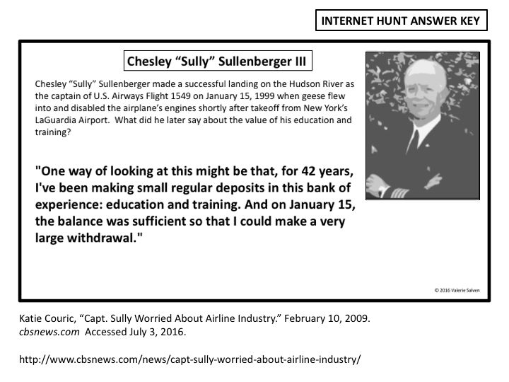 """The """"Bank of Education and Training"""" served Chesley Sullenberger well when he…"""