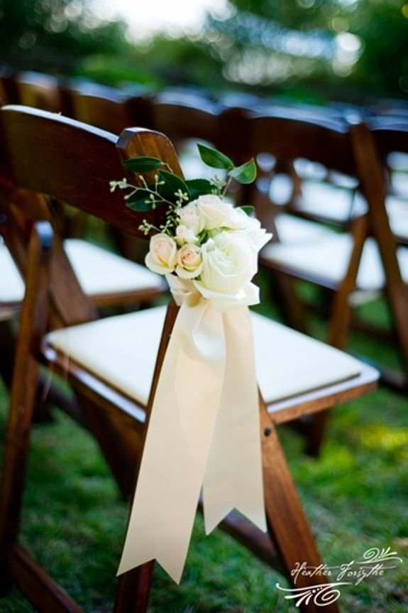 Simple seat decoration in my wedding colors