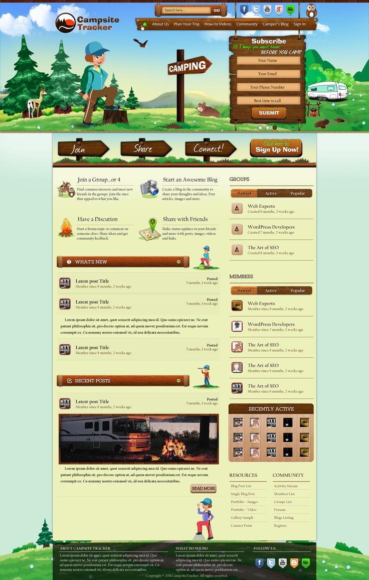 Webdesign for CampingTracker - Slide 1
