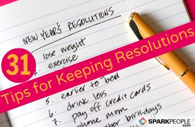 31 Days to Unbreakable Resolutions via @SparkPeople
