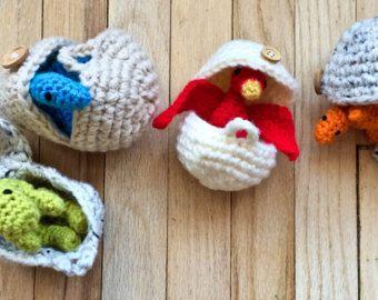 CROCHET PATTERN: Hatching Dinosaur Eggs by CrochetinginCanada