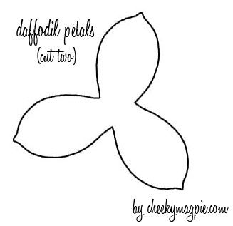 Printables 6 Petals Flowers Templates | cut two of the petal patterns out of patterned paper. It doesn't ...