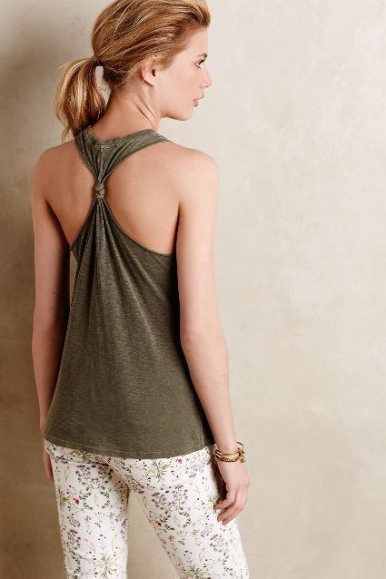 Jersey Twist-Back Tank - anthropologie.com
