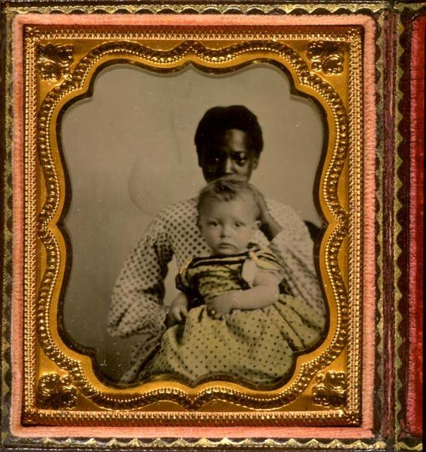 Sixth-plate ambrotype, hand-tinted, ca. 1855.