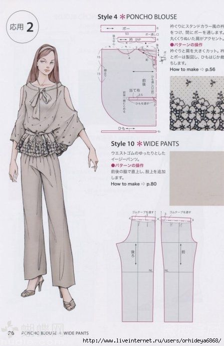 Schnittmuster Poncho Bluse - Poncho Blouse Pattern