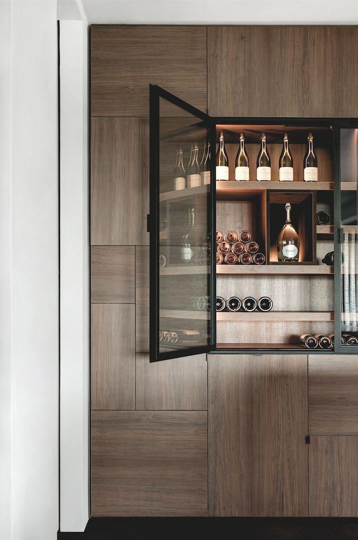 Beautiful Millwork Details In Kitchen   Built In Bar Area