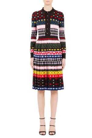 Aw16 bkd001 multi cecile dress front 1