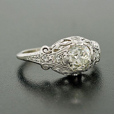 art deco engagement ring - 1920s Wedding Rings