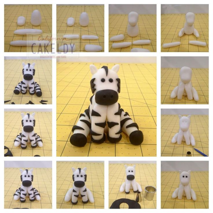 How to make a fondant zebra topper