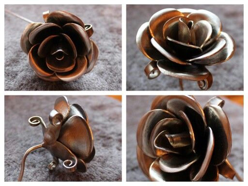 Rose from stainless 1.5mm thick steel. With dremel 3000 and VersaFlame