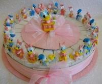 Torta bomboniera  Gemelli con Paperina e Paperino Disney confezionata
