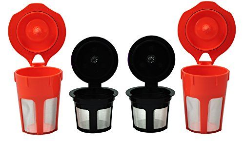 EcoSave Coffee Filter Combo contains 2 reusable k cups and 2 k carafes, so you can satisfy four different tastes at once. COMPATIBLE WITH KEURIG 2.0 - K200, K250, K300, K350, K360, K400, K450, K460, K500, K550, K560. The Carafe 2.0 brews all Carafe sizes: 2-3 cups, 3-4 cups, 4-5 cups (16-30oz) and The K cup 2.0 brews single cups of coffee from 4-10oz and Travel mug sizes 12-16oz. Made from 100% BPA and Lead Free material. Silicone O-Ring to prevent premature seal deterioration. Flat bottom…