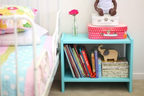 brilliant...  $14.95 ikea bedside table, painted with sample paint  Would make ace toy storage for Levi's room when he stops falling on things with his face  fatmumslim
