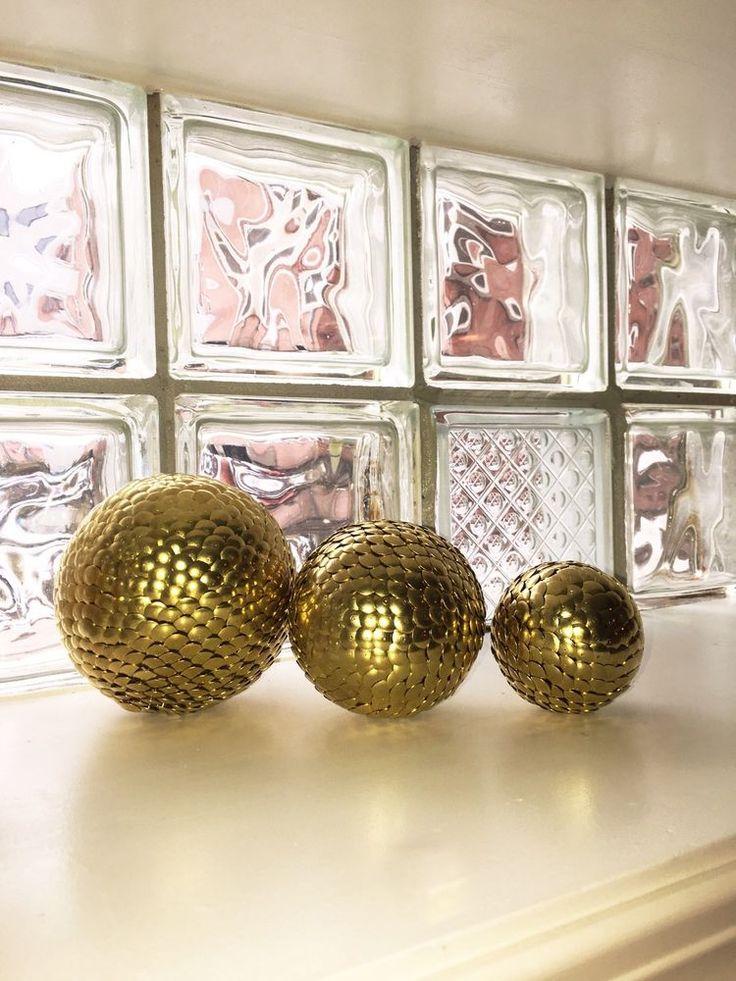 Vase filler balls gold sphere decor ball shelf