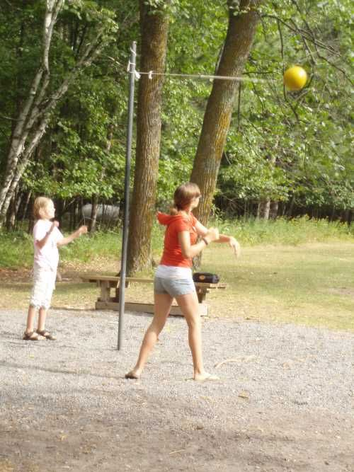 Tether ball- we had one of these on our brick patio at home. thought it was so cool
