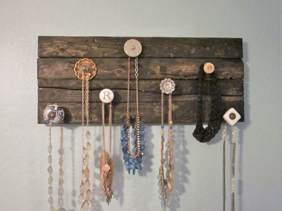 To hang jewelry