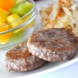 Homemade Breakfast Sausage using any ground meat! It tastes so GOOD and is less greasy than actual sausage :)