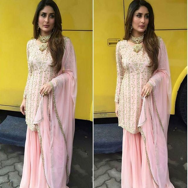 The 'Begum' Effect: Kareena Looks Gorgeous in a Pink Sharara For a Jewellery Brand Event | PINKVILLA