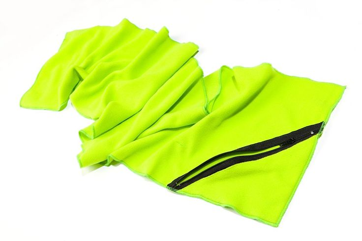 Microfiber towel with pocket