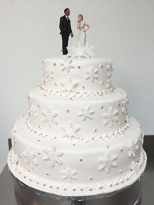 Winter Wedding themed Wedding Cake