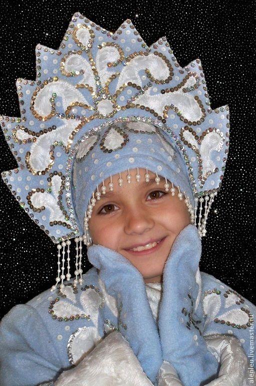 """Купить """"Снегурка"""" карнавальные костюмы для девочек - синий, новогодний костюм, на елку, детские костюмы"""