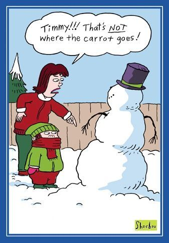 Christmas humor Mr. Snowman