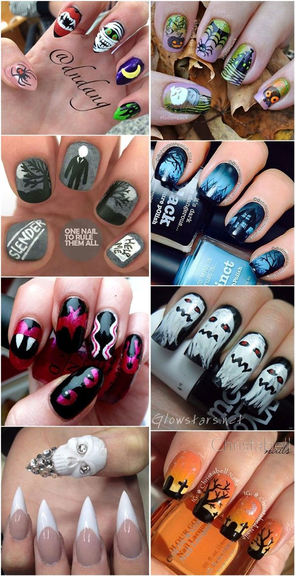 Halloween Nail Art Designs Ideas Pictures
