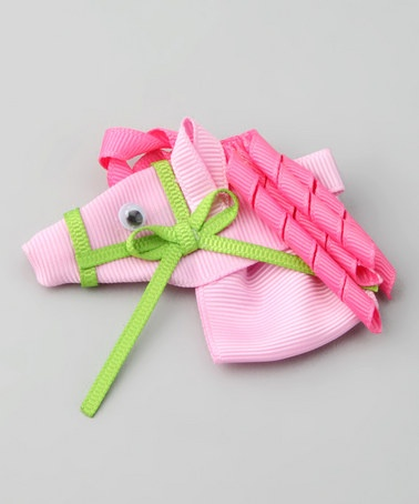 Pink Horse Clip by Bubbly Bows