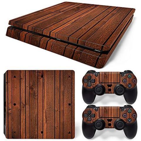 ModFreakz® Console/Controller Vinyl Skin Set – Dark Rough Wood for PS4 Slim – Mod Freakz #PS4 #ModFreakz #Vinyl #Skin #diy #gaming #accessories