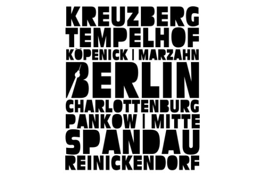 Berlin Stadtteile von muli84 - Wandtattoo Typo Design on TapeRay.com