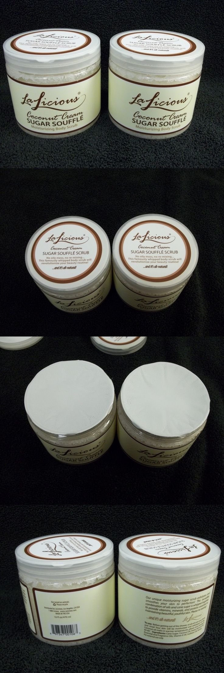 Body Scrubs and Exfoliants: New Lalicious Coconut Cream Sugar Souffle Moisturizing Body Scrub Two 16 Oz Jars -> BUY IT NOW ONLY: $58.88 on eBay!