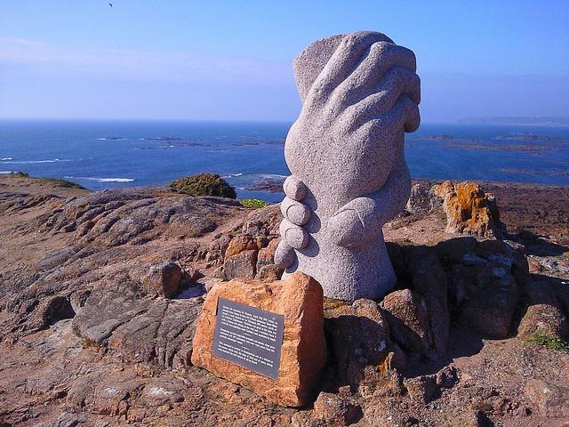 Memorial sculpture at Corbiere, Jersey, Channel Islands by Karen V Bryan, via Flickr