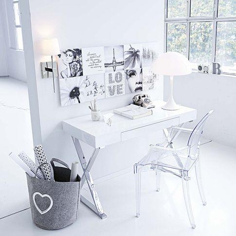ber ideen zu schreibtisch wei hochglanz auf pinterest familieneinheiten. Black Bedroom Furniture Sets. Home Design Ideas