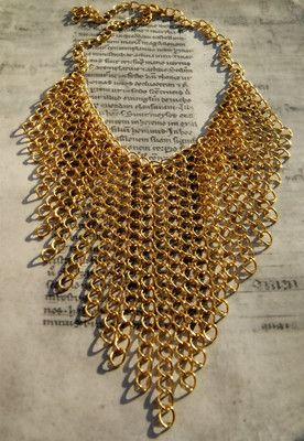 Złoty Naszyjnik Choker Kolia z Łańcuszków #naszyjnik #kolia #necklace #choker #chain #lancuszek